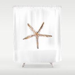 Blonde starfish Shower Curtain