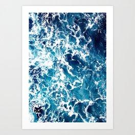 Wild Ocean Waves, Ocean Water Art Print