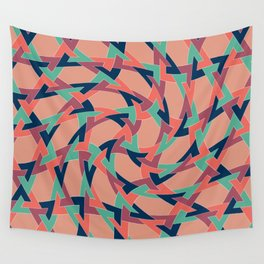 Lens on Geometric pattern 1977 Wall Tapestry