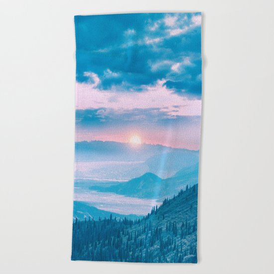 Pastel vibes 15 Beach Towel