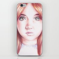 karen hallion iPhone & iPod Skins featuring karen gillan by Jill Schell