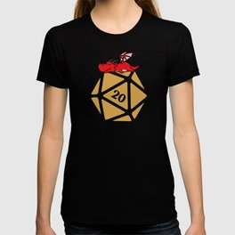 DnD Polyhedral D20 Dice Critical Hit Dragon Dungeons and Dragons T-shirt