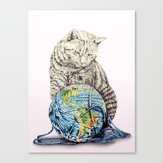 In which our feline deity shows restraint  Canvas Print