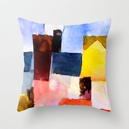 Paul Klee, Moonrise Over St. Germain Throw Pillow