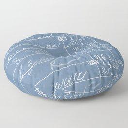 Library Card 23322 Negative Blue Floor Pillow
