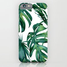 Classic Palm Leaves Tropical Jungle Green Slim Case iPhone 6s