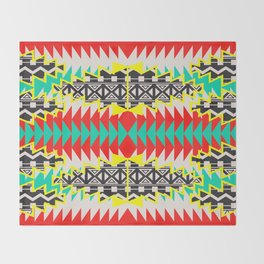 Tribal Beat Geo Neon Throw Blanket