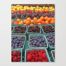 Fruit Stand Farmers Market Canvas Print