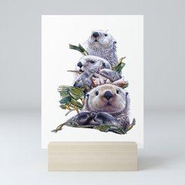 Sea Otter Trio Mini Art Print