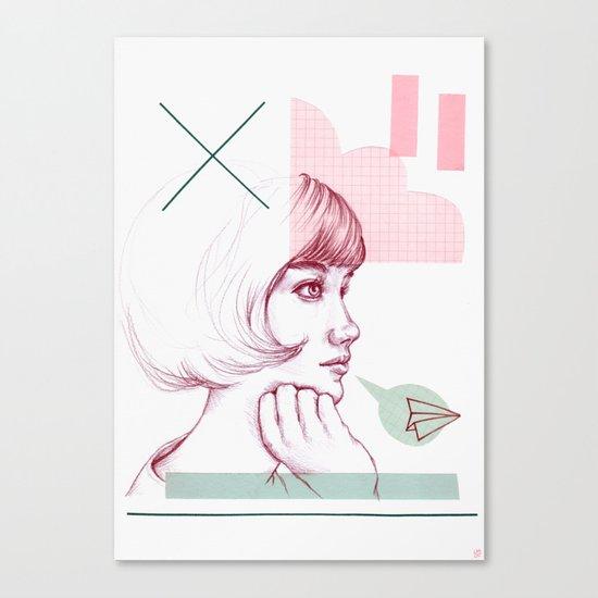Classroom Girl Canvas Print