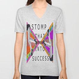 Stomp that STRESS into Success Unisex V-Neck