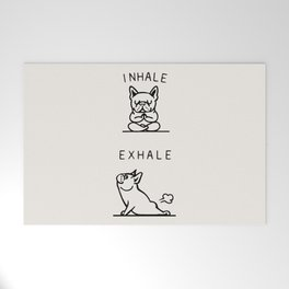 Inhale Exhale Frenchie Welcome Mat