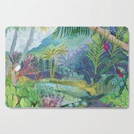 Jungle Paradise Watercolor Cutting Board