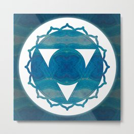 Dimensional Communications Abstract Chakra Art Metal Print