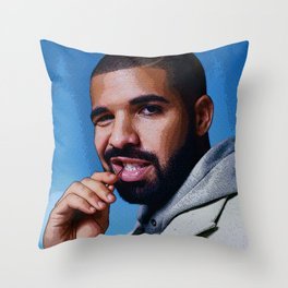 DRAKE // COMIC BOOK STYLE Throw Pillow