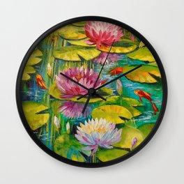 Charming pond Wall Clock