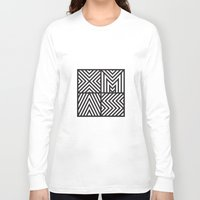 xmas Long Sleeve T-shirts featuring XMAS by Péter Árpád