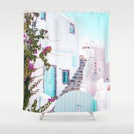 Love Santorini Shower Curtain