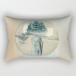 The Battle - Captain Ahab and Moby Dick Rectangular Pillow