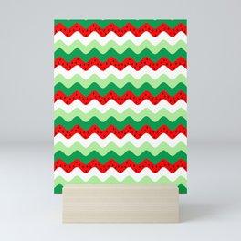 watermelon rickrack Mini Art Print
