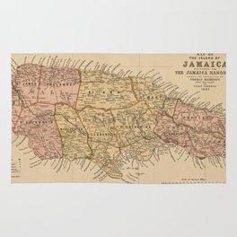 Jamaica Rugs Society - Vintage map of jamaica
