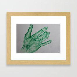 Giving the Earth a hand Framed Art Print