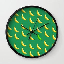 Bananas abide. Wall Clock