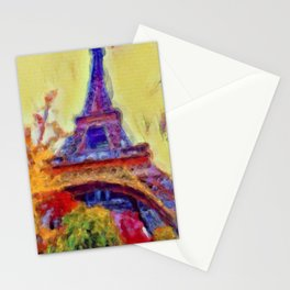 Eiffel Tower in Paris Watercolor | Saletta Home Decor Stationery Cards