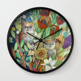 Returning Home to Roost Wall Clock