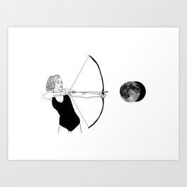 Shooting for the moon Art Print