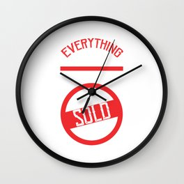 Everything I Touch Turns To Sold Real Estate Realty Realtor Agent Property Building T-shirt Design Wall Clock