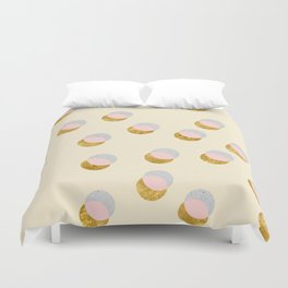Gold and Pastel Duvet Cover