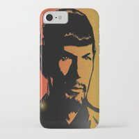 spock iPhone & iPod Cases featuring Spock by SVA🌺