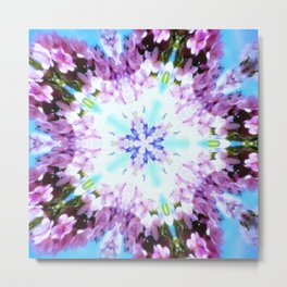 Purple Flower Power Series Metal Print