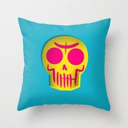 Triad Skull Throw Pillow