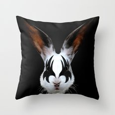Kiss of a Rabbit Throw Pillow