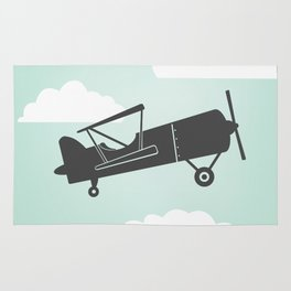 Mint Green with Gray Biplane Rug
