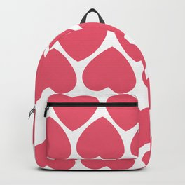 Seamless pattern with big pink hearts Backpack