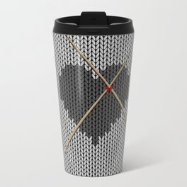 Original Knitted Heart Design Travel Mug