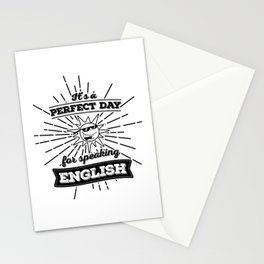 Perfect English Day - BLK Stationery Cards