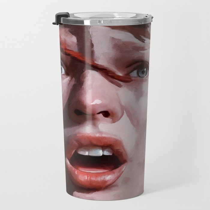 Painted Illustration Of Leeloo From The Cult Classic Film The Fifth Element Travel Mug