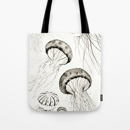 jelly fishes black and white Tote Bag
