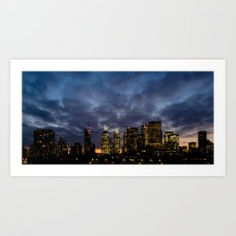Skyline Cloudy Sunset Art Print