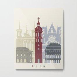 Lyon skyline poster Metal Print