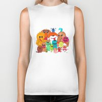 muppet Biker Tanks featuring Muppet Doodle Jam! by Orangeblowfish