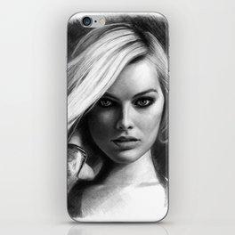 Margot Robbie Pencil Sketch iPhone Skin