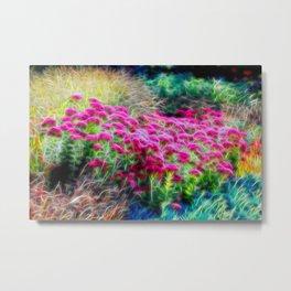 Floral Web Metal Print