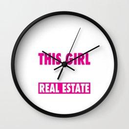 This Girl Sells Real Estate Wall Clock