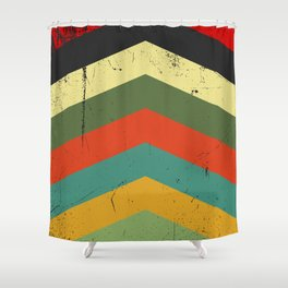 Grunge chevron Shower Curtain