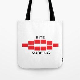 Bite Surfing Tote Bag